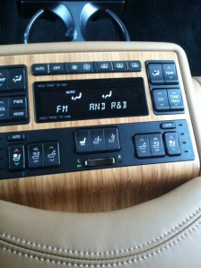 center console Lexus 600h L