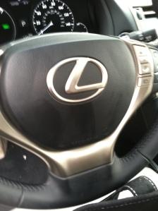 Steering wheel to Lexus RX hybrid