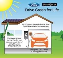 Ford and SunPower's Solar Power Energy Solution