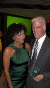 Gloria Ruben and Ted Danson at the Heart of Green Awards
