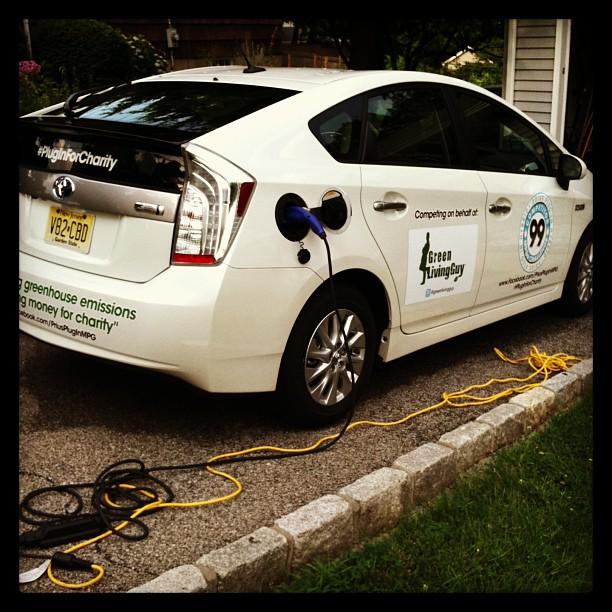 Charging Prius Plug-in Hybrid EV