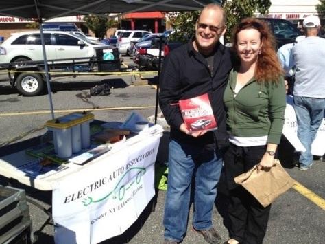 Green Living Guy Seth Leitman book tour while at Plugin Day in Long Island