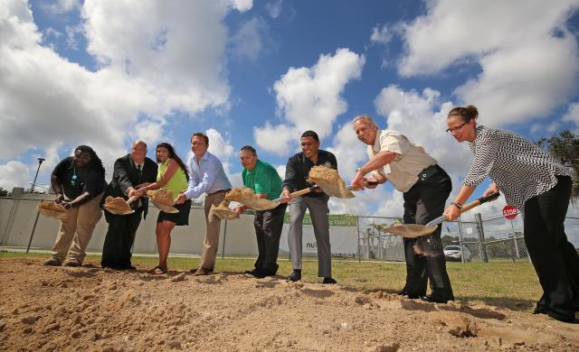 NuTerra Haines City Organics Recycling Facility groundbreaking in Haines City Fl. Thursday May 14, 2015. Ernst Peters/The Ledger.