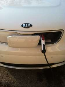 Kia Soul electric car charging