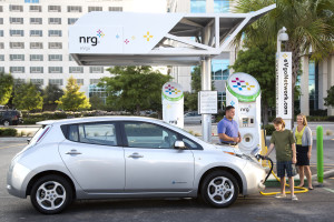 NRG - eVgo station at Memorial City Mall, August 13, 2013.
