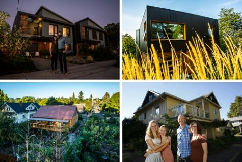 Passive solar homes in Portland