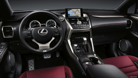 2015 Lexus NX 300h Hybrid Electric Car interior
