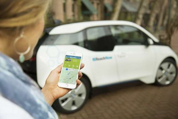 BMW Group introduced ReachNow, a new free-floating car-sharing service, in Seattle, WA on Friday, April 8, 2016. The new premium service features a near-instant registration process and a fleet of 370 vehicles including the BMW i3, vehicles staged on the streets of Seattle.