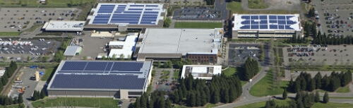 Sonoma Mountain Village in California—the first One Planet community in North America—is about to put the finishing touches on a massive solar project (nearly 13k solar panels!), projected to save the businesses already there and future residents millions of dollars in coming years. The completed solar installation will offset more than 50 percent of the site's total energy with clean renewable power generated onsite.